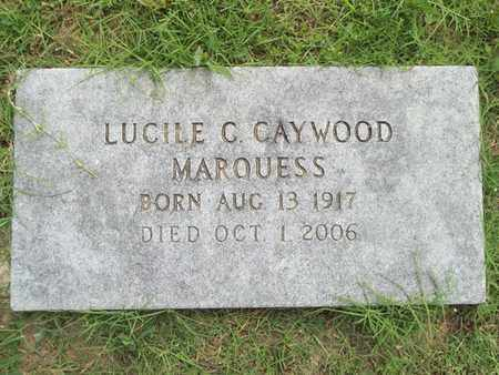 CAYWOOD MARQUESS, LUCILE C. - Delaware County, Oklahoma   LUCILE C. CAYWOOD MARQUESS - Oklahoma Gravestone Photos