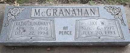 DUNAWAY MCGRANAHAN, VADA - Delaware County, Oklahoma | VADA DUNAWAY MCGRANAHAN - Oklahoma Gravestone Photos