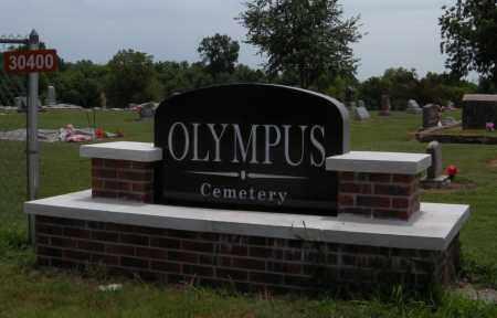 *OLYMPUS CEMETERY SIGN, . - Delaware County, Oklahoma   . *OLYMPUS CEMETERY SIGN - Oklahoma Gravestone Photos