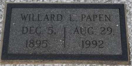 PAPEN, WILLARD L - Delaware County, Oklahoma   WILLARD L PAPEN - Oklahoma Gravestone Photos