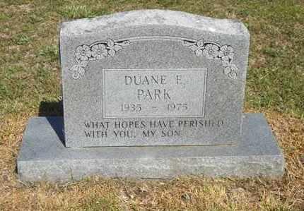 PARK, DUANE E - Delaware County, Oklahoma | DUANE E PARK - Oklahoma Gravestone Photos