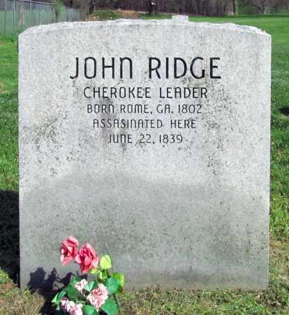 RIDGE, JOHN - Delaware County, Oklahoma | JOHN RIDGE - Oklahoma Gravestone Photos