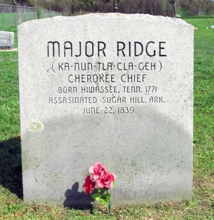 RIDGE, MAJOR - Delaware County, Oklahoma | MAJOR RIDGE - Oklahoma Gravestone Photos