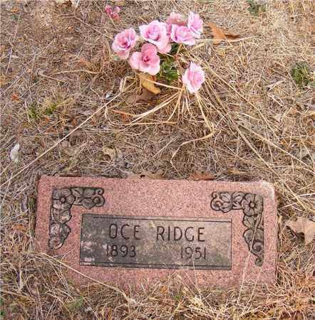 RIDGE, OCE - Delaware County, Oklahoma   OCE RIDGE - Oklahoma Gravestone Photos