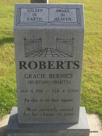 BURTON ROBERTS, GRACIE BERNICE - Delaware County, Oklahoma   GRACIE BERNICE BURTON ROBERTS - Oklahoma Gravestone Photos