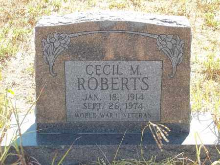 ROBERTS (VETERAN WWII), CECIL M - Delaware County, Oklahoma | CECIL M ROBERTS (VETERAN WWII) - Oklahoma Gravestone Photos