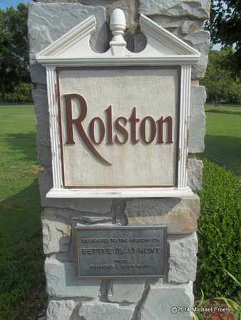 *ROLSTON CEMETERY SIGN, . - Delaware County, Oklahoma | . *ROLSTON CEMETERY SIGN - Oklahoma Gravestone Photos