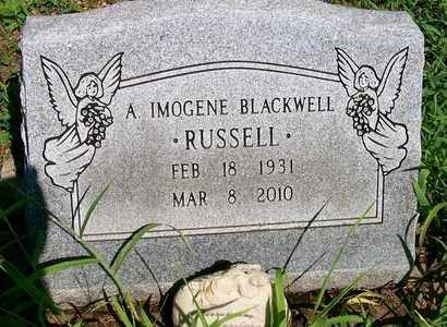 BLACKWELL RUSSELL, A. IMOGENE - Delaware County, Oklahoma   A. IMOGENE BLACKWELL RUSSELL - Oklahoma Gravestone Photos