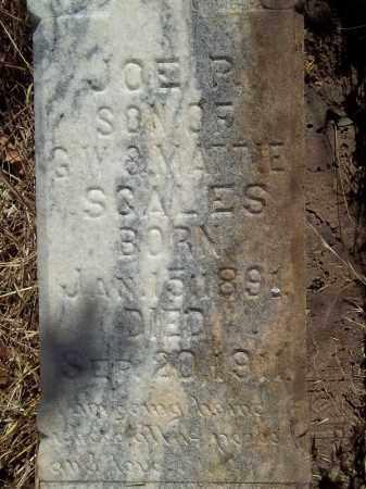 SCALES (CLOSEUP), JOE P - Delaware County, Oklahoma   JOE P SCALES (CLOSEUP) - Oklahoma Gravestone Photos