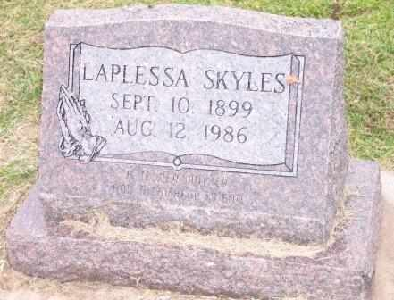SKYLES, LAPLESSA - Delaware County, Oklahoma   LAPLESSA SKYLES - Oklahoma Gravestone Photos