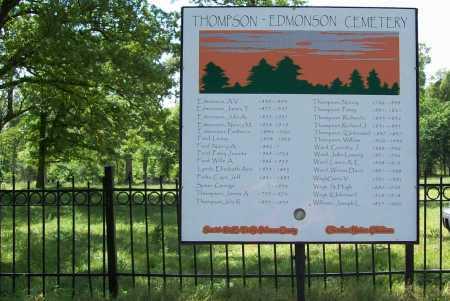 *THOMPSON-EDMONSON CEMETERY SI, . - Delaware County, Oklahoma   . *THOMPSON-EDMONSON CEMETERY SI - Oklahoma Gravestone Photos