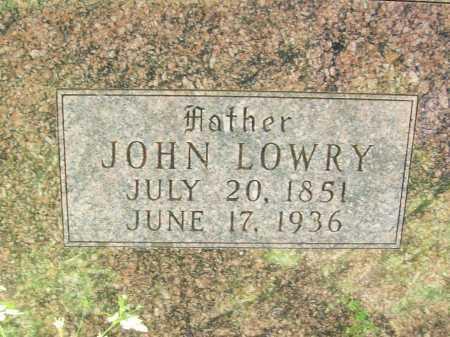 WARD (CLOSEUP), JOHN LOWRY - Delaware County, Oklahoma   JOHN LOWRY WARD (CLOSEUP) - Oklahoma Gravestone Photos