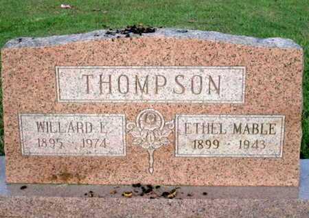 THOMPSON WARD, ETHEL MABLE - Delaware County, Oklahoma | ETHEL MABLE THOMPSON WARD - Oklahoma Gravestone Photos