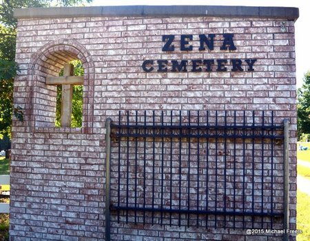 *ZENA CEMETERY SIGN, . - Delaware County, Oklahoma | . *ZENA CEMETERY SIGN - Oklahoma Gravestone Photos