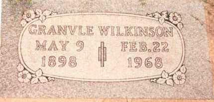 WILKINSON, GRANVILLE - Garfield County, Oklahoma | GRANVILLE WILKINSON - Oklahoma Gravestone Photos