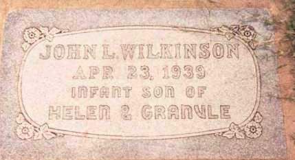 WILKINSON, JOHN L. - Garfield County, Oklahoma | JOHN L. WILKINSON - Oklahoma Gravestone Photos