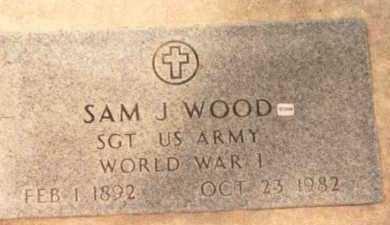 WOOD, SAM J. - Garfield County, Oklahoma | SAM J. WOOD - Oklahoma Gravestone Photos