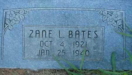 BATES, ZANE L - Grady County, Oklahoma | ZANE L BATES - Oklahoma Gravestone Photos