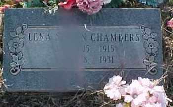 CHAMBERS, LENA - Grady County, Oklahoma | LENA CHAMBERS - Oklahoma Gravestone Photos