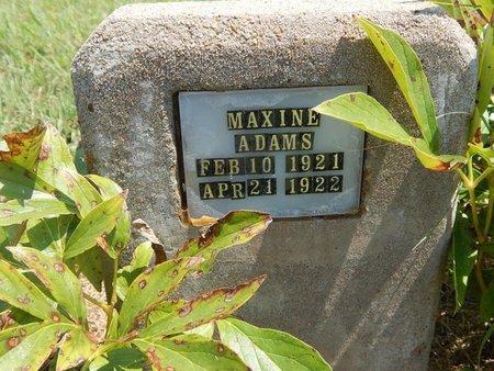 ADAMS, MAXINE - Grant County, Oklahoma | MAXINE ADAMS - Oklahoma Gravestone Photos
