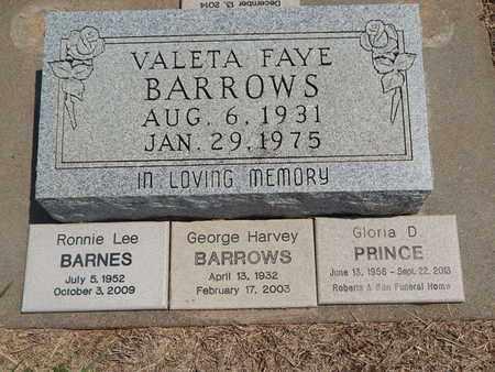 BARROWS, VALETA FAYE - Grant County, Oklahoma | VALETA FAYE BARROWS - Oklahoma Gravestone Photos