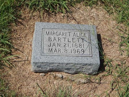 BARTLETT, MARGARET ALICE - Grant County, Oklahoma | MARGARET ALICE BARTLETT - Oklahoma Gravestone Photos