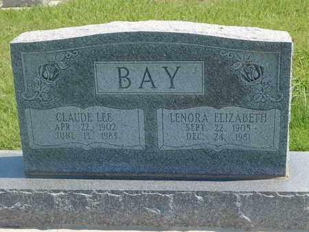 BAY, LENORA ELIZABETH - Grant County, Oklahoma | LENORA ELIZABETH BAY - Oklahoma Gravestone Photos