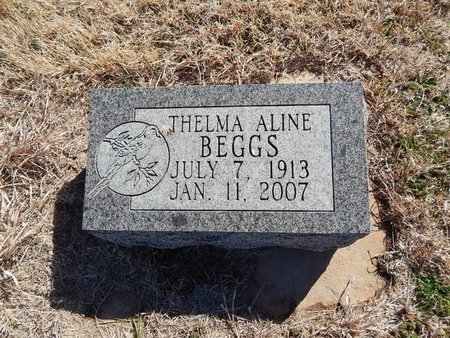 BEGGS, THELMA ALINE - Grant County, Oklahoma | THELMA ALINE BEGGS - Oklahoma Gravestone Photos