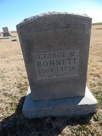 BONNETT, GEORGE M - Grant County, Oklahoma   GEORGE M BONNETT - Oklahoma Gravestone Photos