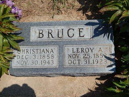 BRUCE, LEROY A - Grant County, Oklahoma | LEROY A BRUCE - Oklahoma Gravestone Photos