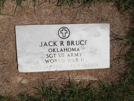 BRUCE (VETERAN WWII), JACK R - Grant County, Oklahoma | JACK R BRUCE (VETERAN WWII) - Oklahoma Gravestone Photos