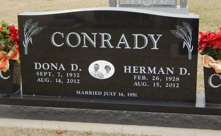 CONRADY, HERMAN D - Grant County, Oklahoma | HERMAN D CONRADY - Oklahoma Gravestone Photos