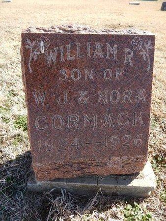 CORMACK, WILLIAM R - Grant County, Oklahoma   WILLIAM R CORMACK - Oklahoma Gravestone Photos
