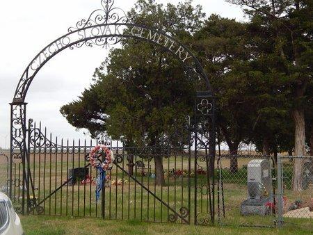 *CZECHO SLOVAK CEMETERY , .ENTRANCE - Grant County, Oklahoma   .ENTRANCE *CZECHO SLOVAK CEMETERY  - Oklahoma Gravestone Photos