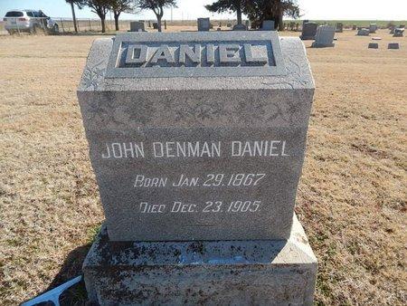 DANIEL, JOHN DENMAN - Grant County, Oklahoma | JOHN DENMAN DANIEL - Oklahoma Gravestone Photos