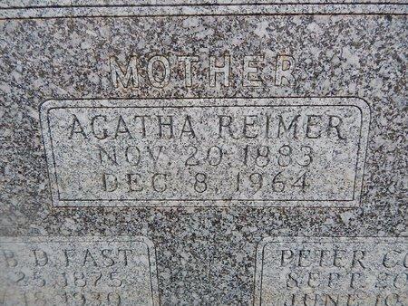 FAST, AGATHA (CLOSE-UP) - Grant County, Oklahoma | AGATHA (CLOSE-UP) FAST - Oklahoma Gravestone Photos