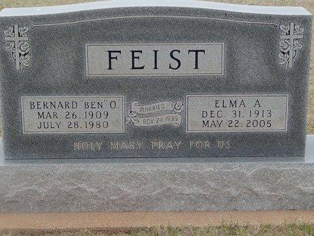 FEIST, ELMA A - Grant County, Oklahoma   ELMA A FEIST - Oklahoma Gravestone Photos