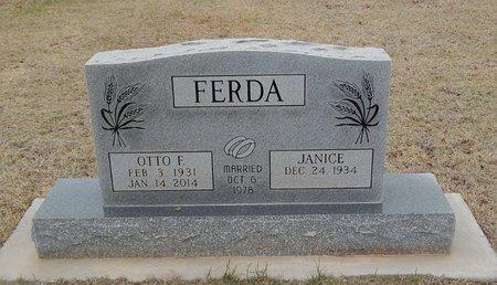 FERDA, OTTO F - Grant County, Oklahoma | OTTO F FERDA - Oklahoma Gravestone Photos