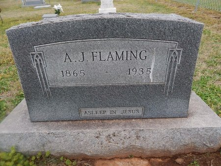 FLAMING, A J - Grant County, Oklahoma | A J FLAMING - Oklahoma Gravestone Photos