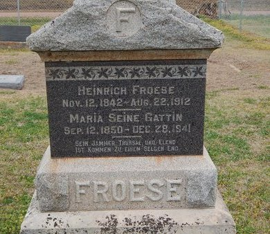 FROESE, HEINRICH - Grant County, Oklahoma | HEINRICH FROESE - Oklahoma Gravestone Photos