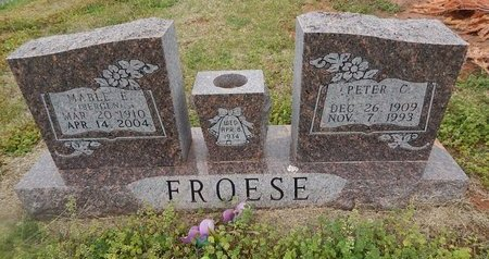 FROESE, PETER C - Grant County, Oklahoma   PETER C FROESE - Oklahoma Gravestone Photos