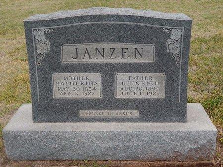 JANZEN, HEINRICH - Grant County, Oklahoma | HEINRICH JANZEN - Oklahoma Gravestone Photos