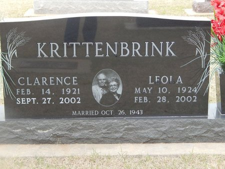 KRITTENBRINK, LEOLA - Grant County, Oklahoma | LEOLA KRITTENBRINK - Oklahoma Gravestone Photos