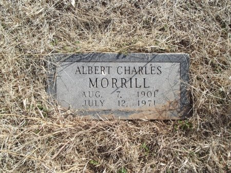 MORRILL, ALBERT CHARLES - Grant County, Oklahoma   ALBERT CHARLES MORRILL - Oklahoma Gravestone Photos