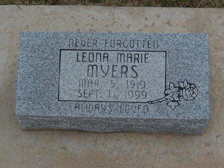 MYERS, LEONA MARIE - Grant County, Oklahoma | LEONA MARIE MYERS - Oklahoma Gravestone Photos