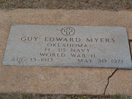 MYERS (VETERAN WWII), GUY EDWARD - Grant County, Oklahoma | GUY EDWARD MYERS (VETERAN WWII) - Oklahoma Gravestone Photos