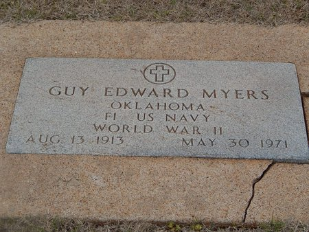 MYERS (VETERAN WWII), GUY EDWARD - Grant County, Oklahoma | GUY EDWARD MYERS (VETERAN WWII) - Oklahoma Gravestone Photos
