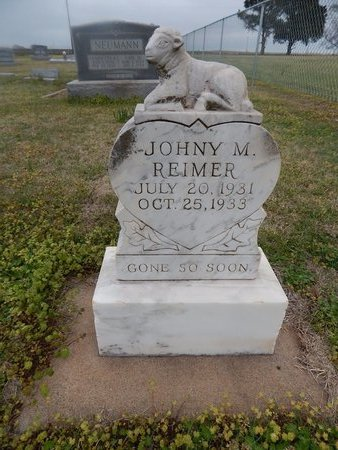 REIMER, JOHNY M - Grant County, Oklahoma   JOHNY M REIMER - Oklahoma Gravestone Photos