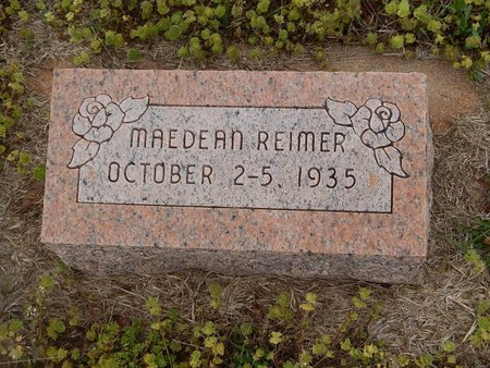 REIMER, MAEDEAN - Grant County, Oklahoma | MAEDEAN REIMER - Oklahoma Gravestone Photos