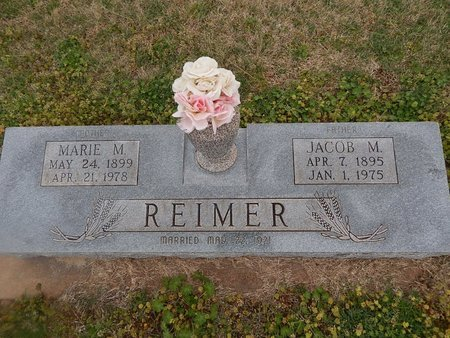 REIMER, MARIE M - Grant County, Oklahoma   MARIE M REIMER - Oklahoma Gravestone Photos